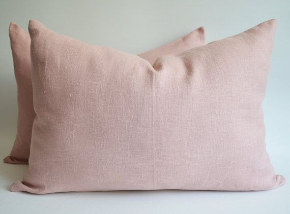 soft decorative pillows. Sukan  1 Very SOFT Pink Linen Pillow Cover Decorative Throw 12x20 inch