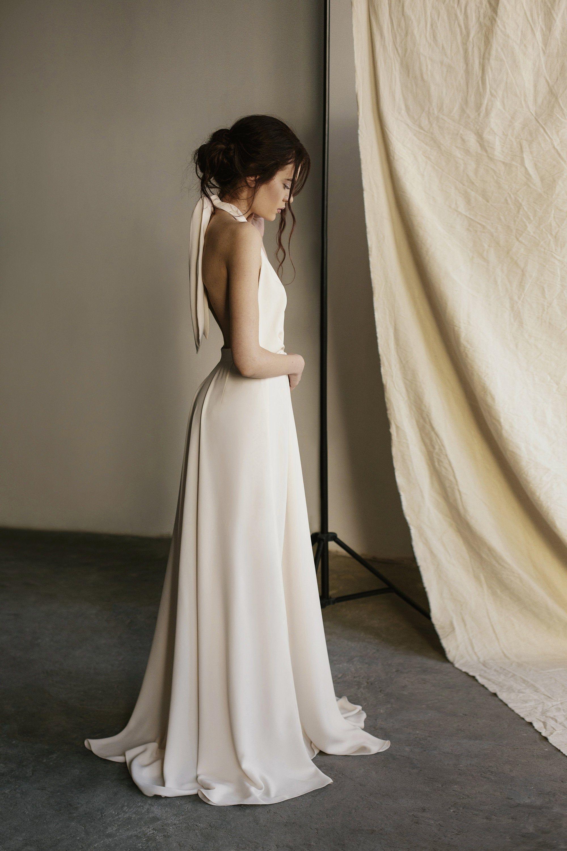 Modem Wedding Dress Simple Wedding Dress Beach Wedding Dress Etsy Simple Wedding Dress Beach Wedding Gown Backless Etsy Wedding Dress