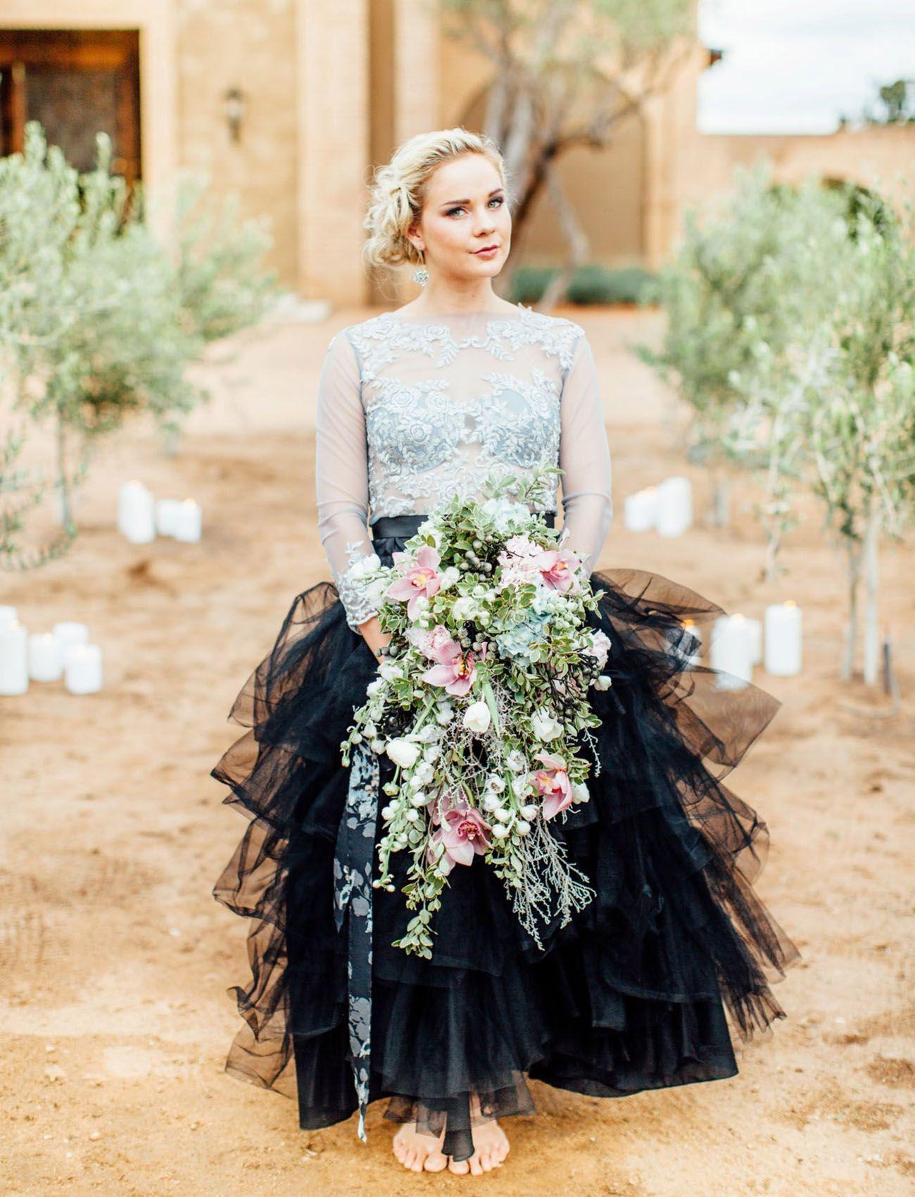 Moody pantone wedding inspiration black wedding dresses wedding