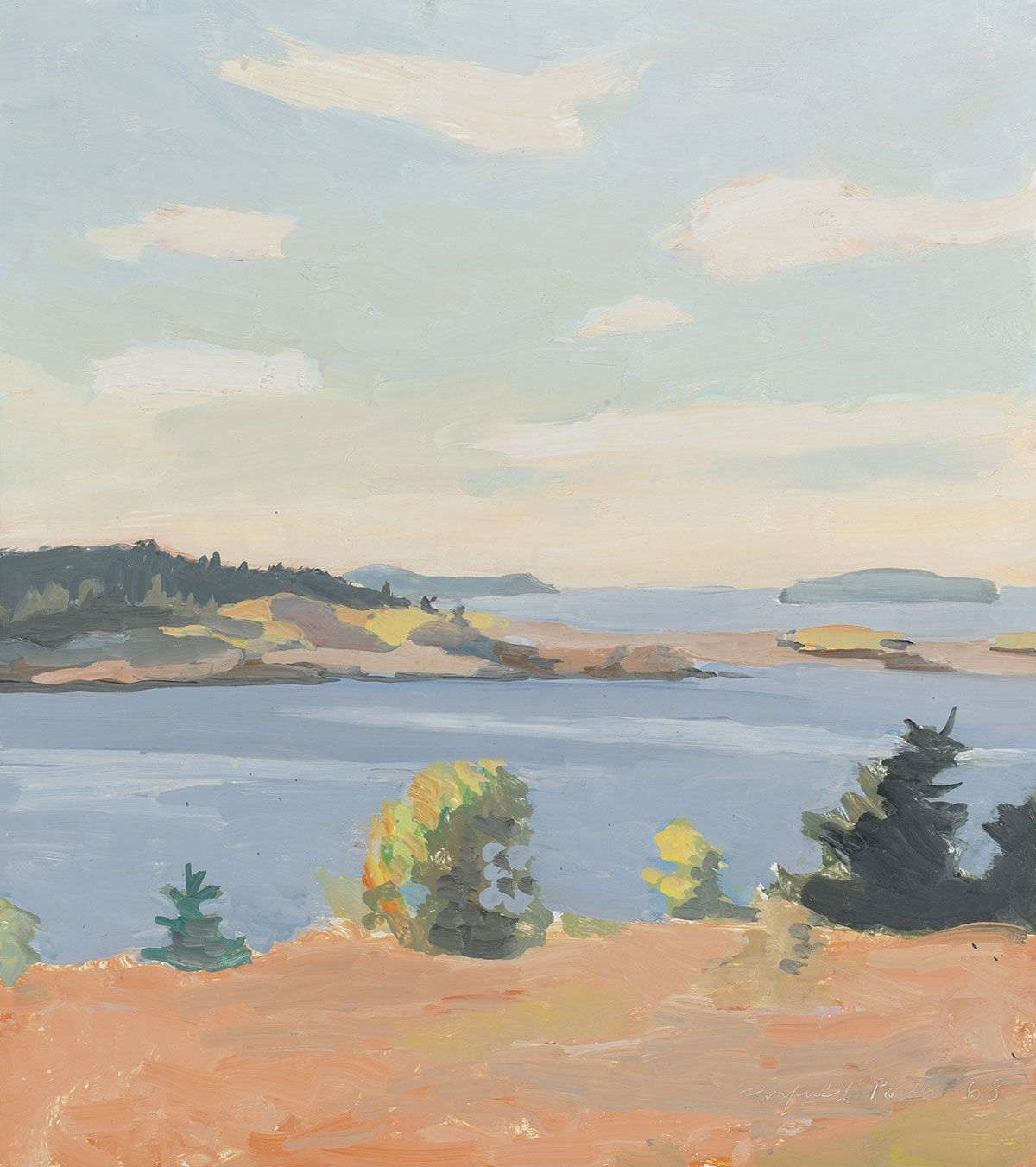 """fairfield porter, """"view of penobscot bay, maine"""" // home"""