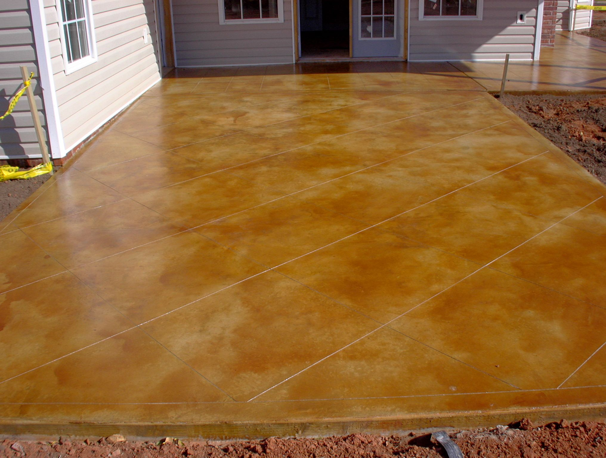Acid stain stamped concrete stamped concrete project for How to clean acid stain floors