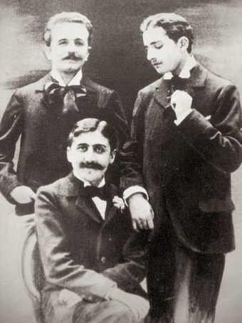 "Proust (seated) with Lucien Daudet (right) ""THIS DAY IN HISTORY: FEBRUARY 5TH- THE DUELING DANDIES""  Lorraine"