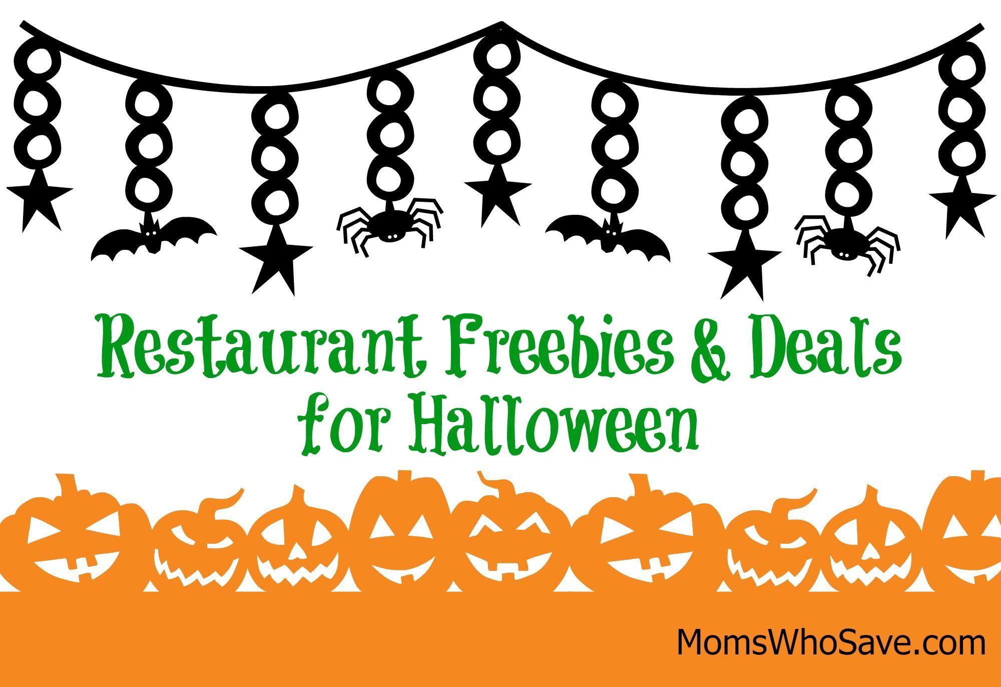 restaurant deals freebies for halloween momswhosavecom deals free
