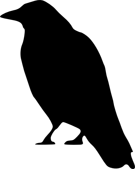 free crow patterns crow standing clip art vector clip art online rh pinterest co uk crown clipart transparent crown clipart black and white
