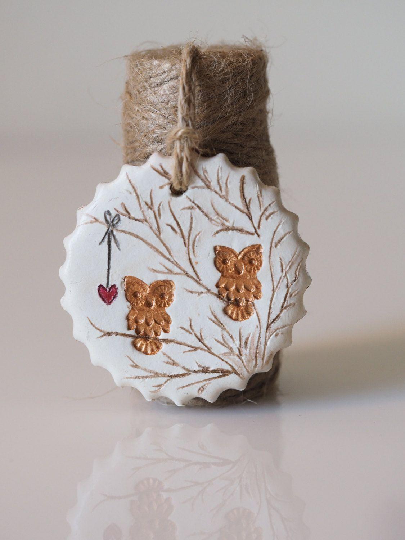 Clay owl decoration || Owl home decor || Handmade owl Rustic Wedding ...