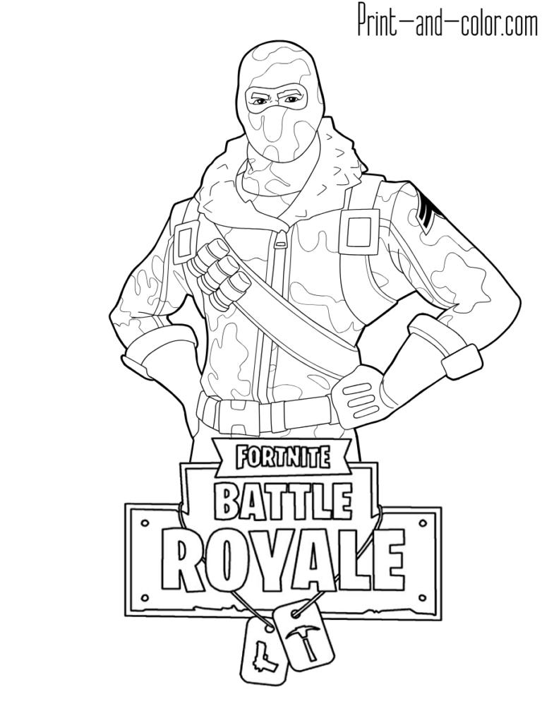 Fortnite battle royale coloring page Havoc male skin outfit