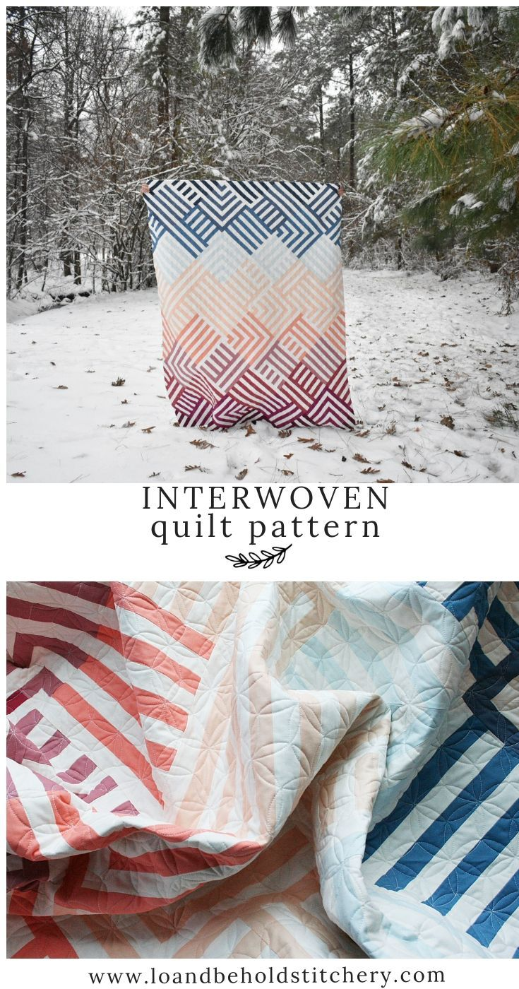 Interwoven #modernquiltingdesigns