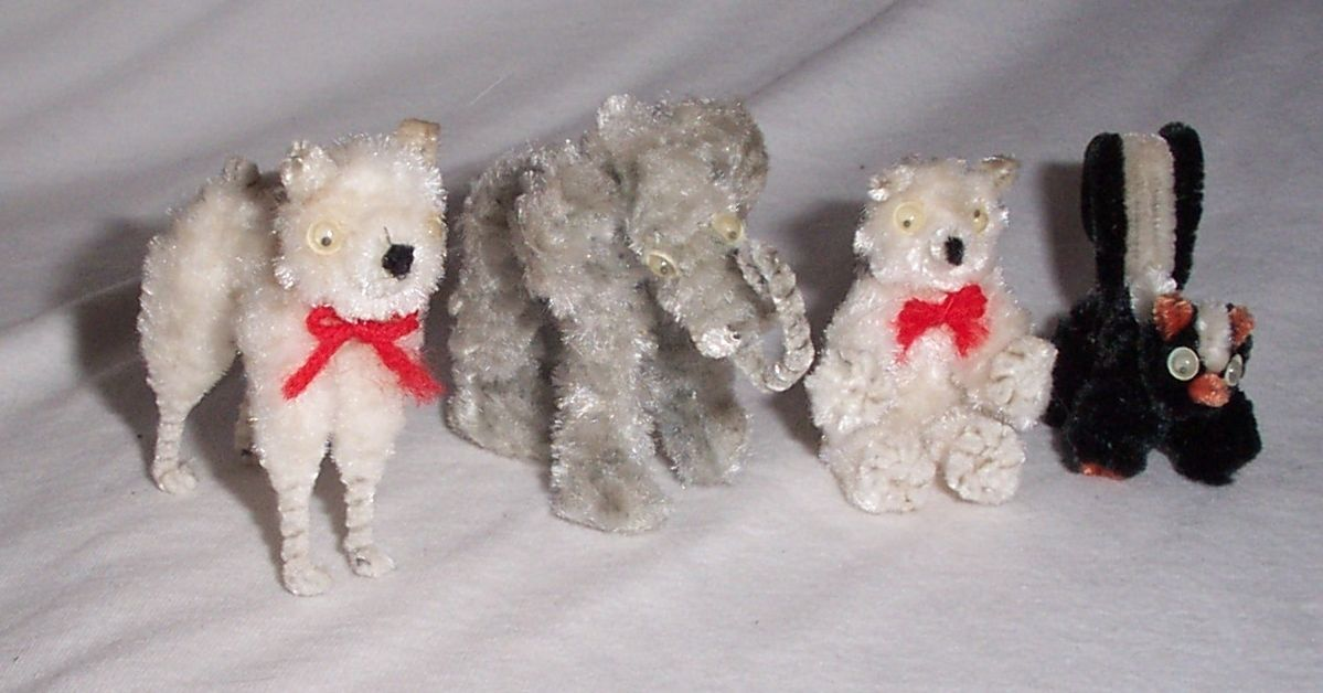 vintage pipe cleaner animal figurines collectible japan