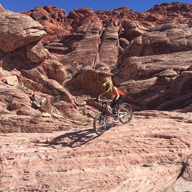 Riding Down The Rocks At The Beautiful Redrock Lasvegas