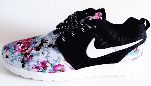 Nike Roshe Run London Olympics Trainers Floral Black Mens Womens
