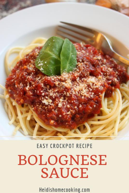Crockpot Spaghetti Bolognese Sauce Heidi S Home Cooking Recipe Spaghetti Bolognese Sauce Crockpot Spaghetti Slow Cooker Ground Beef