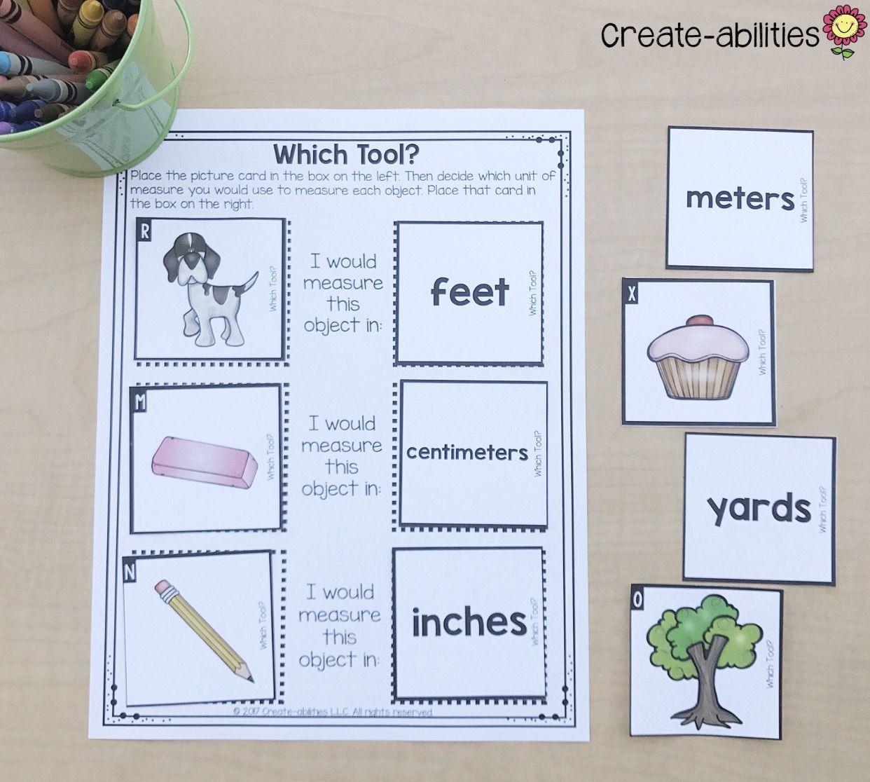 2nd Grade Measurement Math Centers