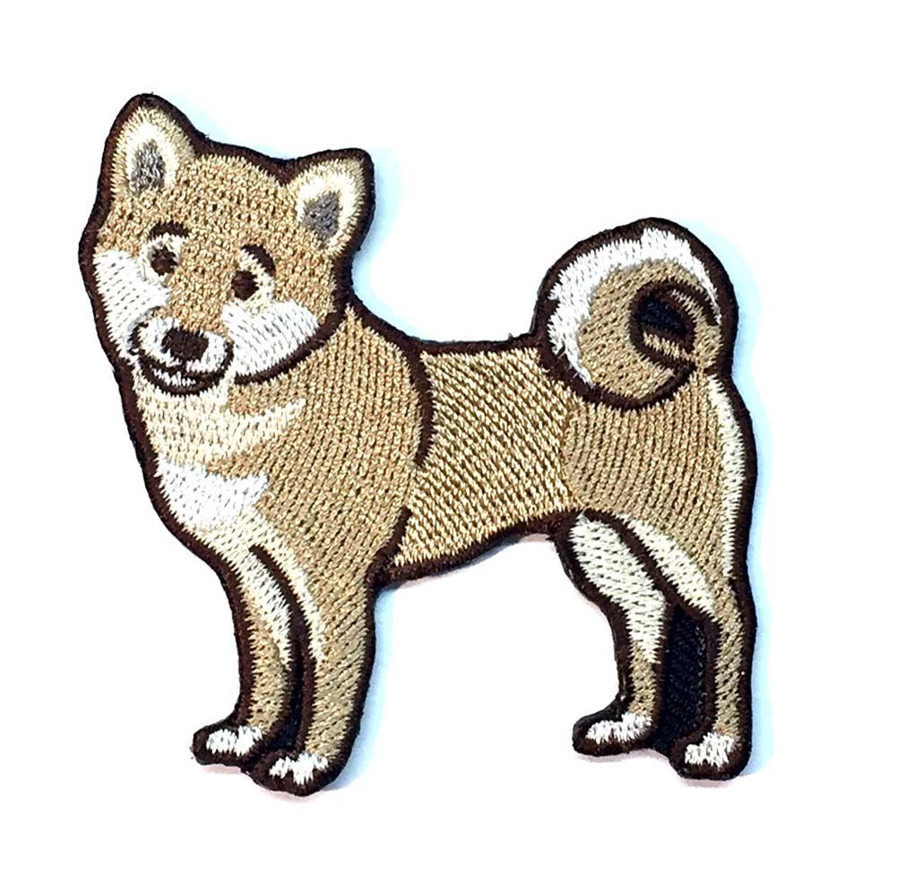 Shiba Inu Iron On Embroidered Patch
