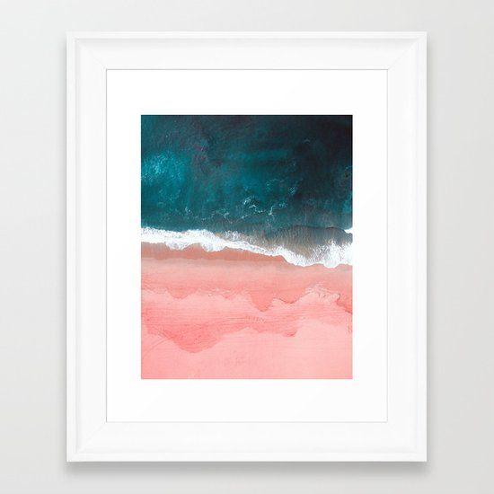 Turquoise Sea Pastel Beach III Framed Art Print by nauticaldecor | Society6