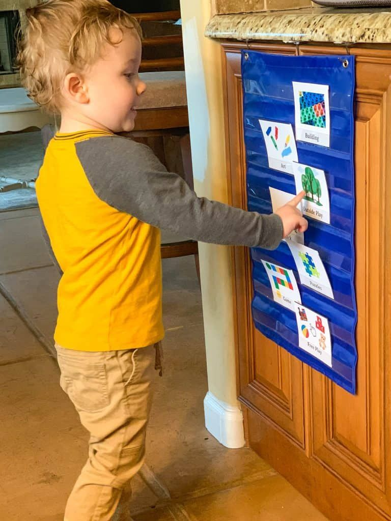 How to use a visual schedule for a 3yearold 3 year old