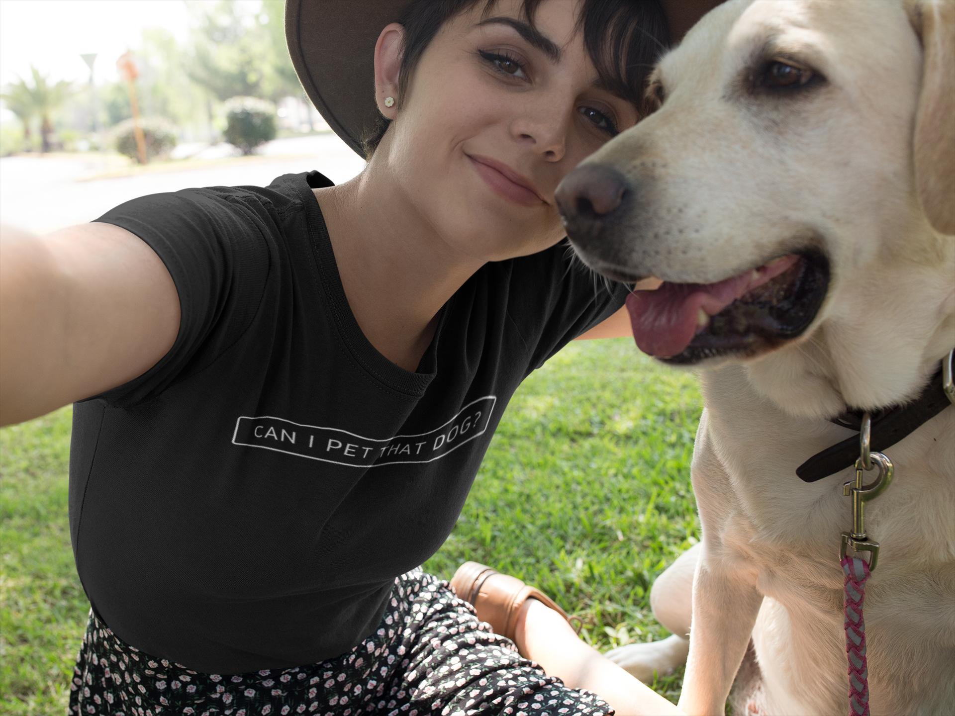 Can I Pet That Dog Tee Tiktok T Shirt Funny Dog Shirt Tik Etsy Funny Dog Shirts Lover Shirts Dog Shirt