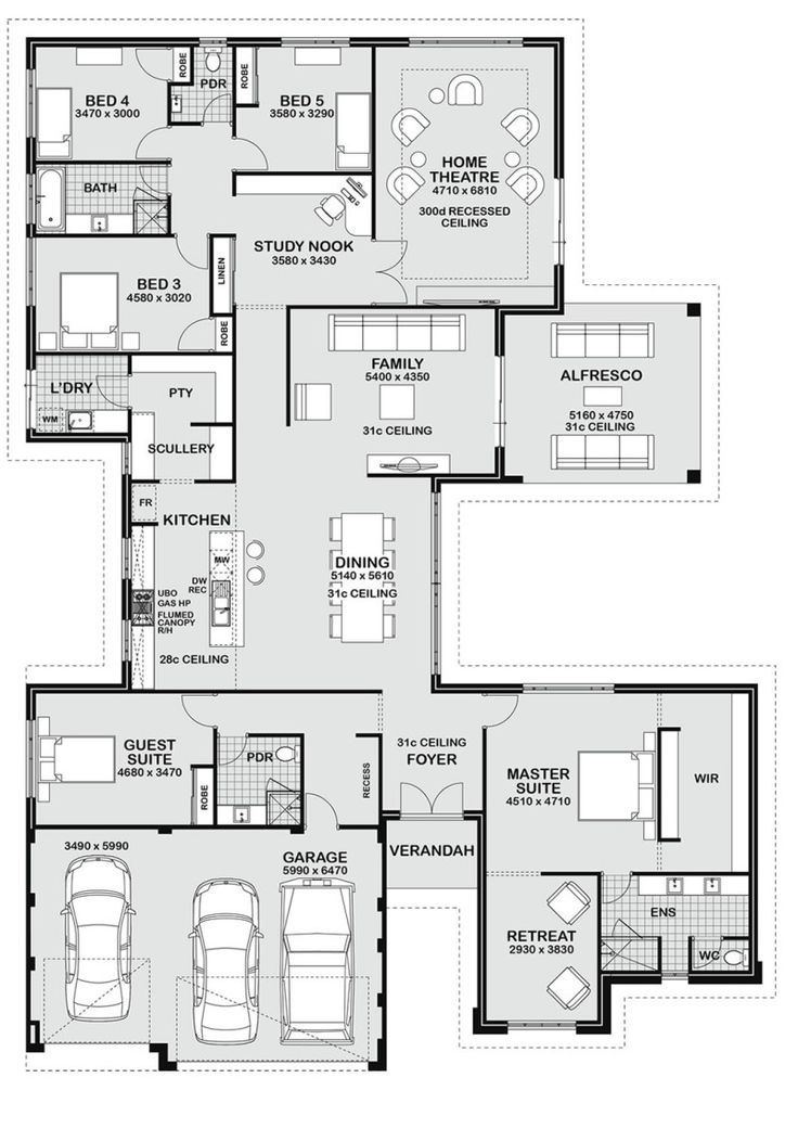 Floor plan friday 5 bedroom entertainer master bedroom for Abrite des plans et des plans