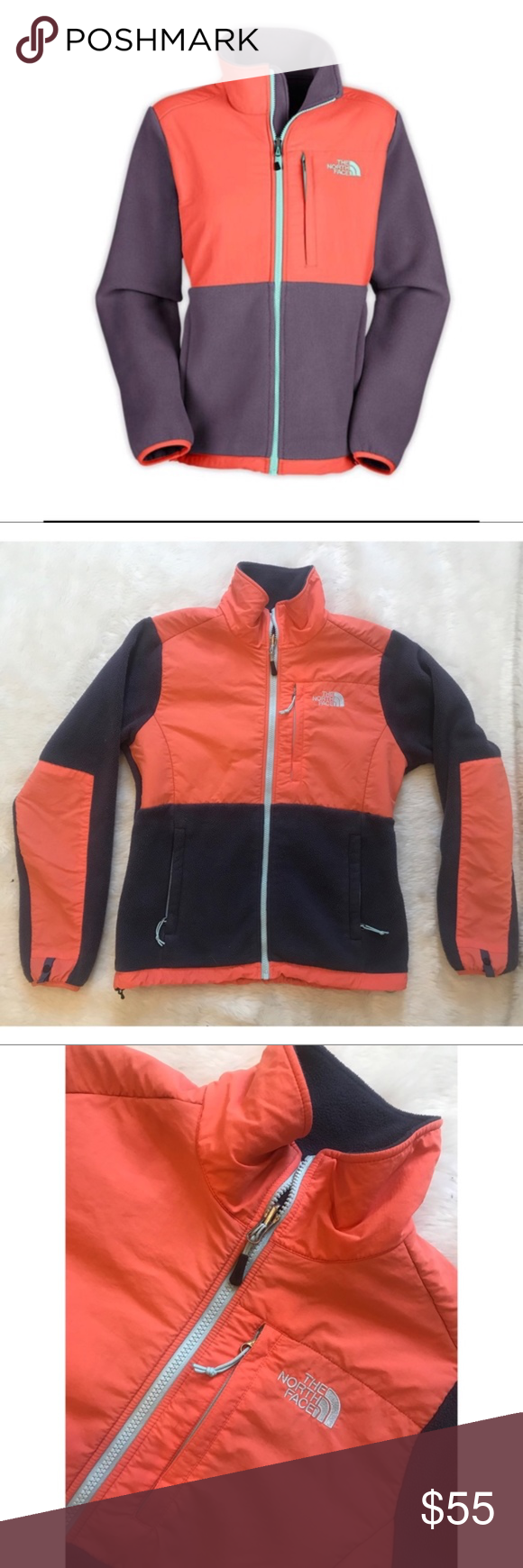 The north face denali zip up fleece jacket small pinterest