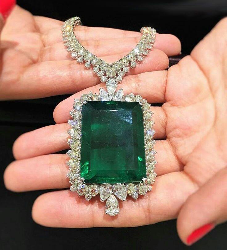 7d12ecaeb1d69 925 Sterling Silver Cz Green Emerald Cut White Pear Halo Women ...