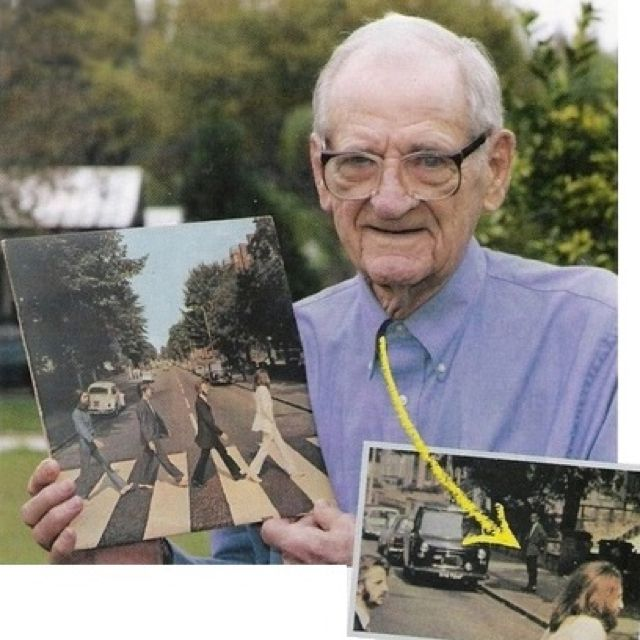 Dude in the abbey road picture