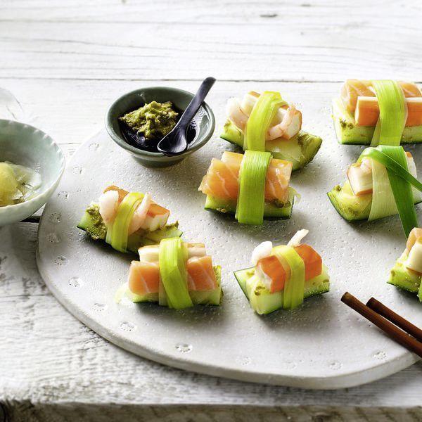 SIS-Sushi mit Lachs und Gurke | Rezept | Vermissen, Schlaf und Schlank