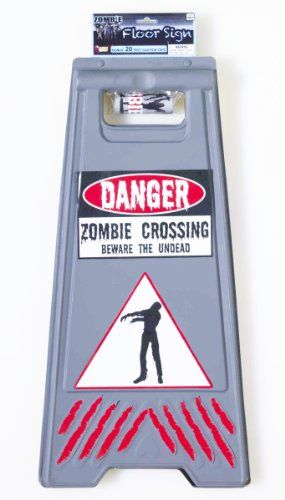 Forum Novelties #Zombie Crossing Sign and Tape #Halloween Decoration