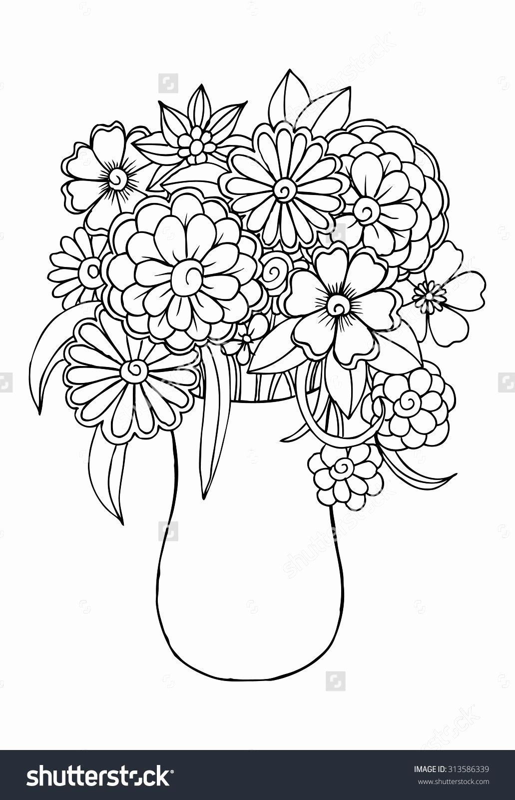 Coloring Pages Spring Flowers Best Of Vector Bouquet Of Flowers In A Vase Bouque Bouquet Colori In 2020 Flower Coloring Pages Flower Coloring Sheets Coloring Pages
