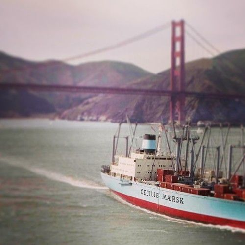 Cecilie Mærsk In The San Francisco Bay In The Late 70s
