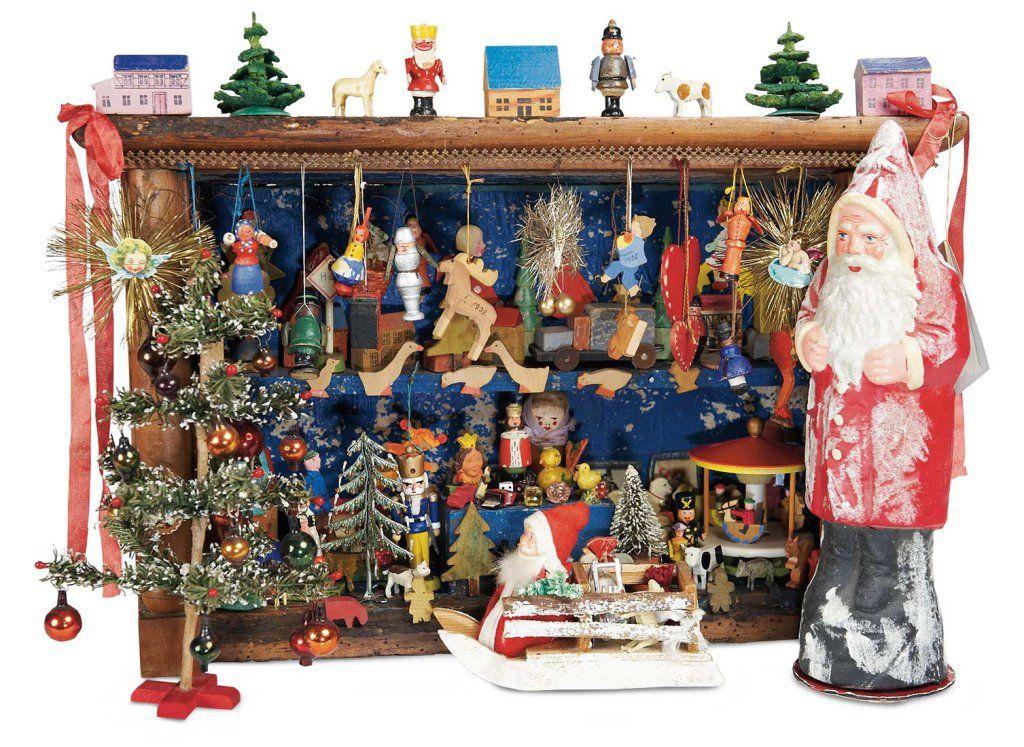 Wonderful Well Laden German Wooden Christmas Toy Bazaar 15002500