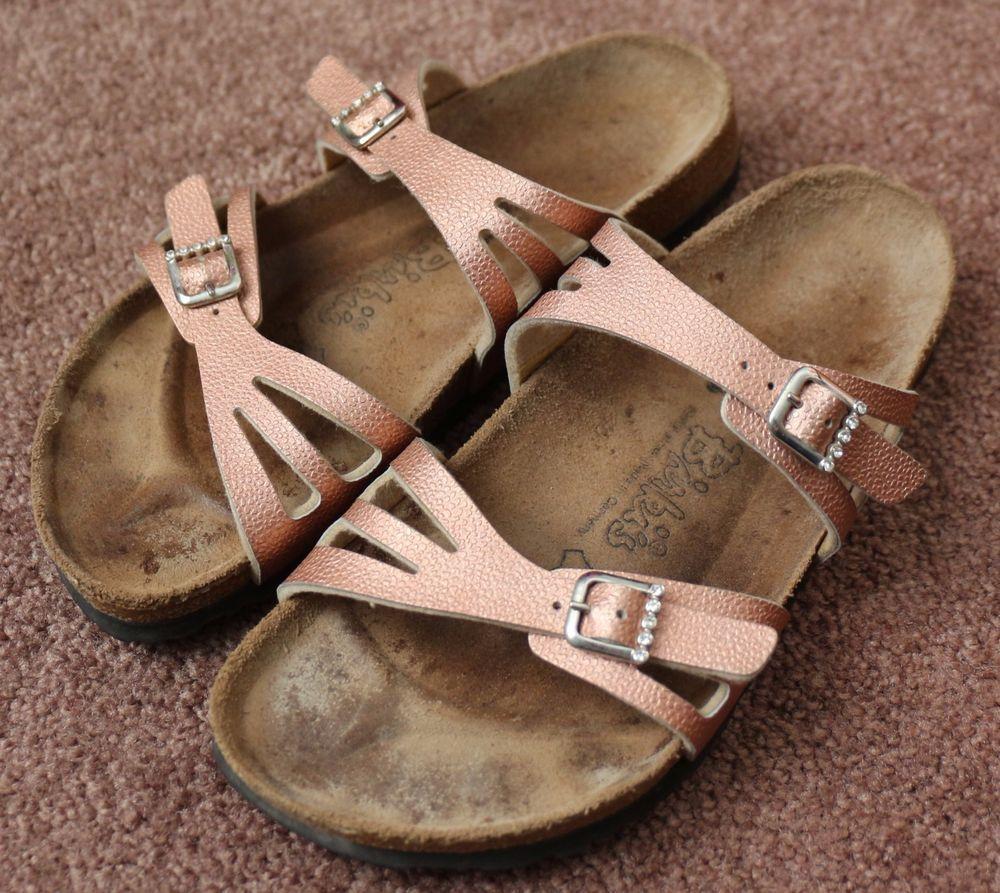 98889c148c5766 Women s Birkenstock Rose Gold Birki s Sandals Rhinestones Buckles 39 US 8  NARROW…