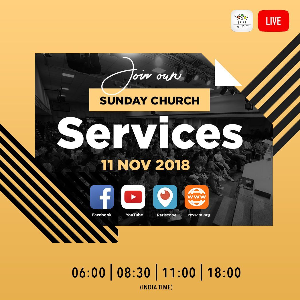 Join our Sunday Church Service LIVE Webcast today! Watch