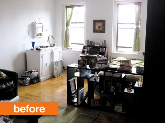 Before & After: Create a 'Bedroom' in a Studio Apartment with Ikea Panels