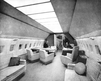 1960 Interior Of Boeing 707 First Jet Powered Presidential