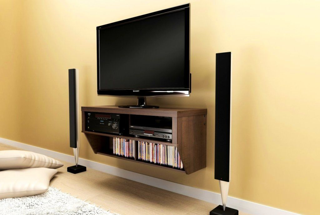 How To Use Bluetooth Speakers On A Non Bluetooth Tv Wall Mounted Media Console Modern Tv Wall Wall Mounted Tv