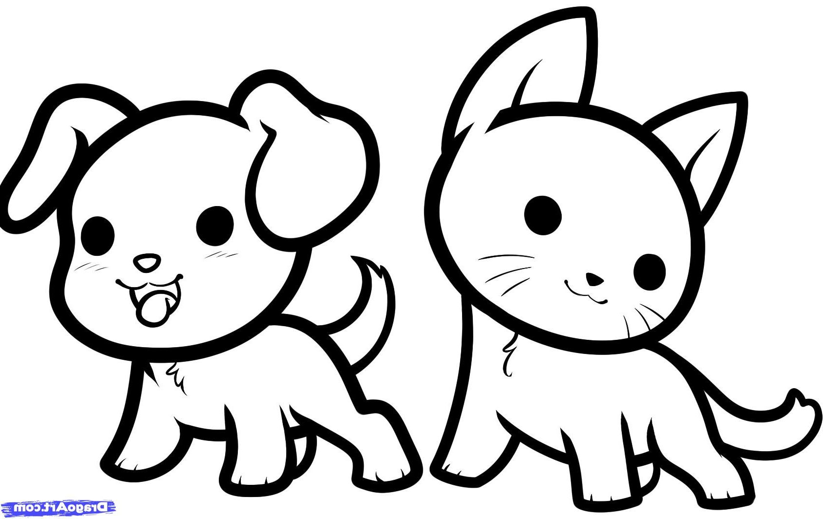 Cute Drawings Animals Coloring Pages Captivating Easy To Draw