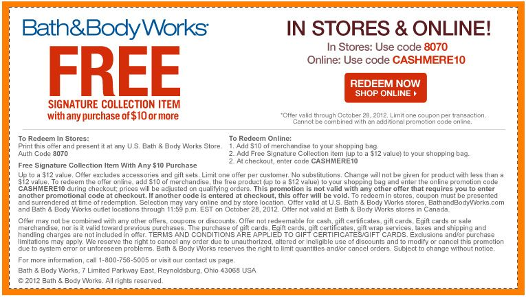 Free Signature Collection Item With $10 Purchase!