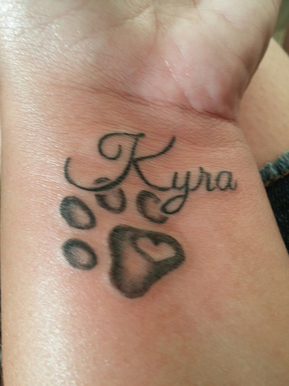 Dog Paw Tattoo On Wrisk More Tattoos Print Tattoos Tattoo Designs