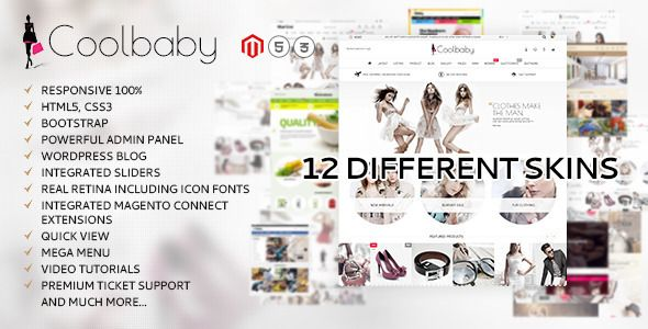 Coolbaby - original Magento theme | Template and Website themes
