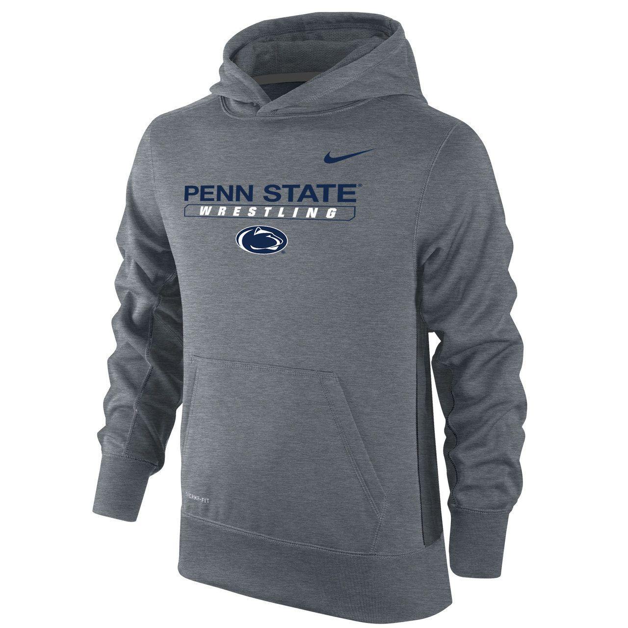 Nike Boy S Therma Fit Ko Penn State Hoody Dark Heather Ncaa Apparel State Hoodie Workout Hoodie [ 1280 x 1280 Pixel ]