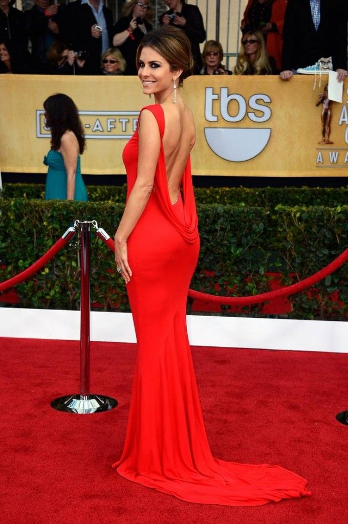Red celebrity prom dress. Long sleek and sexy red dress for prom ...