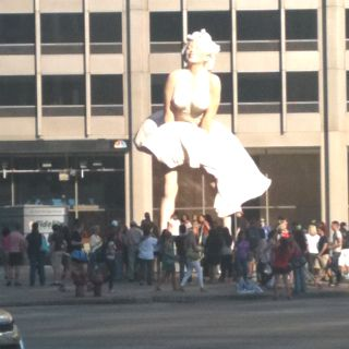 Chicago,IL... Michigan Ave.... i have this picture on my cell phone. :)