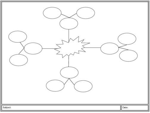 Mind Map Template Multi Node  Graphic Organizers