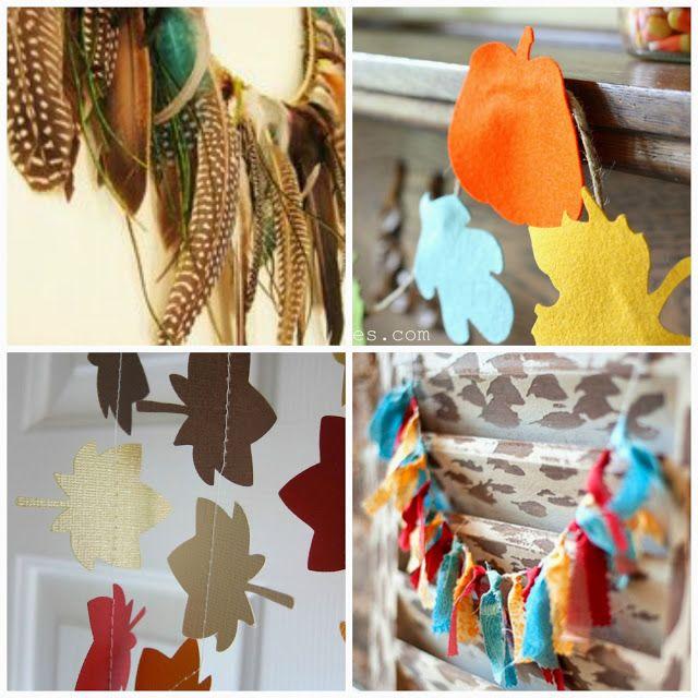 10 guirnaldas para hacer con los niños en el otoño