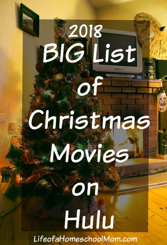 BIG List of Christmas Movies on Hulu Christmas movies