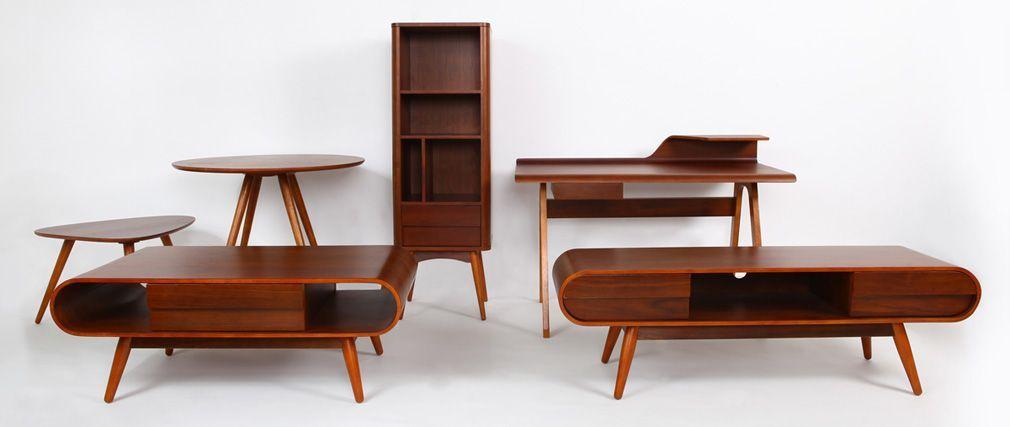 Meuble TV design 2 tiroirs noyer BALTIK salon Pinterest Salons