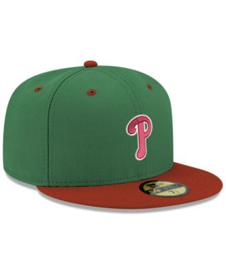 1e438c5a3 New Era Philadelphia Phillies Green Red 59FIFTY Fitted Cap - Green 7 3/8