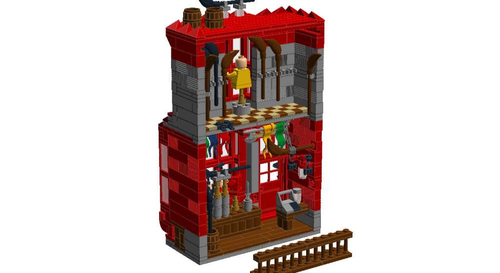 Moc Harry Potter Diagon Alley Quality Quidditch Supplies Formal Wear Lego Licensed Harry Potter Diagon Alley Lego Diagon Alley