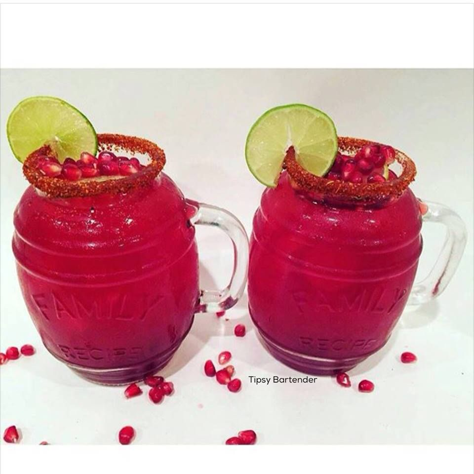 Pom Agua Fresca Cocktail - For more delicious recipes and drinks, visit us here: www.tipsybartender.com
