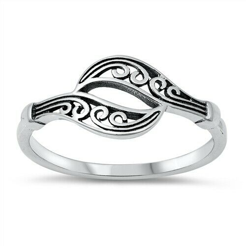 Nature Outdoor Mountain Trees Fashion Band Ring .925 Sterling Silver Size 4-10