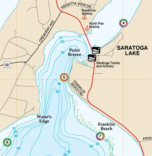 saratoga lake fishing map Fishing Hot Spots America S Preferred Fishing Map Fishing Maps saratoga lake fishing map